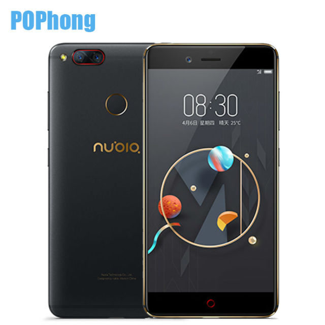 New Nubia Z17 Mini Two Back Camera Smartphone 4GB RAM 64GB ROM 5.2 Inch Snapdragon 652 MSM8976 Dual SIM Cards Ultra Slim
