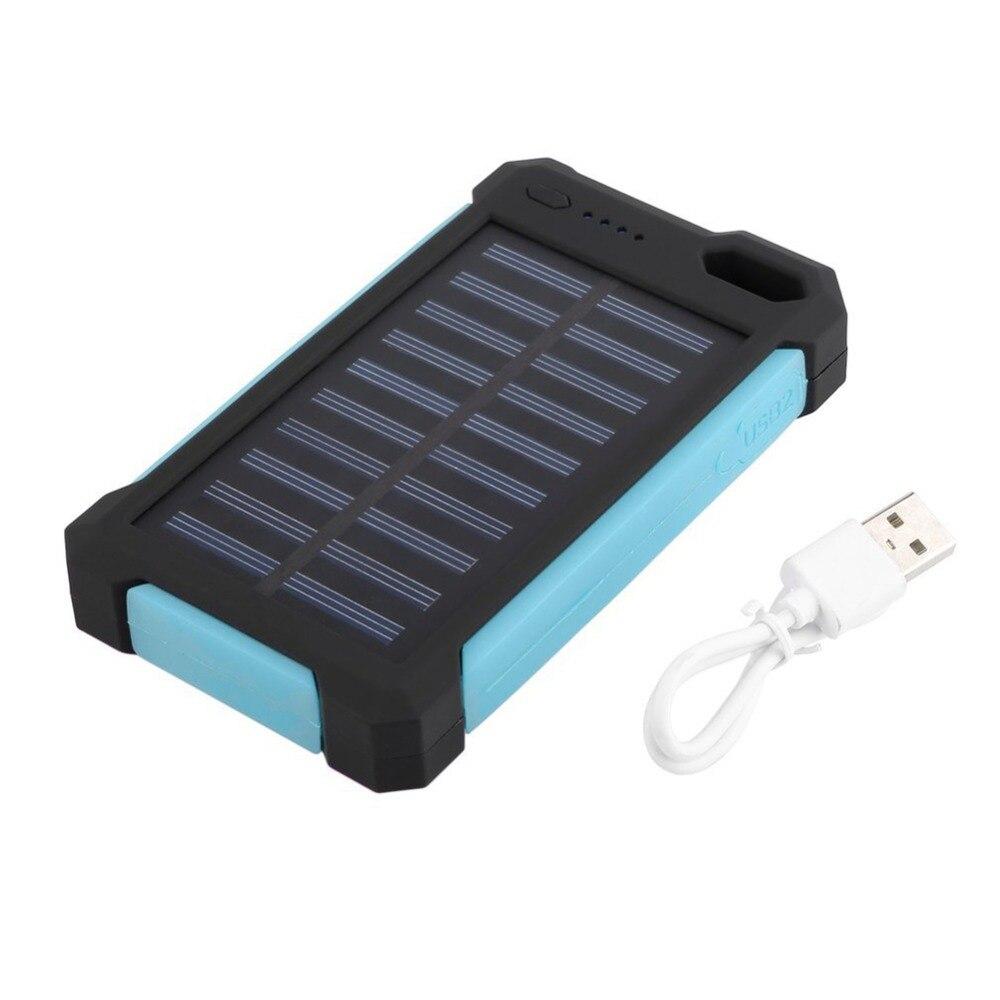 Solare portatile Accumulatori e caricabatterie di riserva 20000 mah Solare Batteria Esterna del Caricatore Impermeabile Dual USB Poverbank con la Luce del LED di Carica Torcia Elettrica
