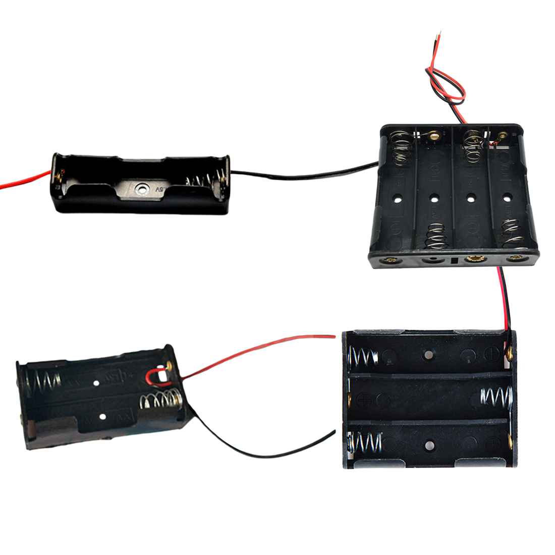 30Pcs 9V Battery T Shape Connector Clip Wire Cable Leads Cord Black 17cm Long