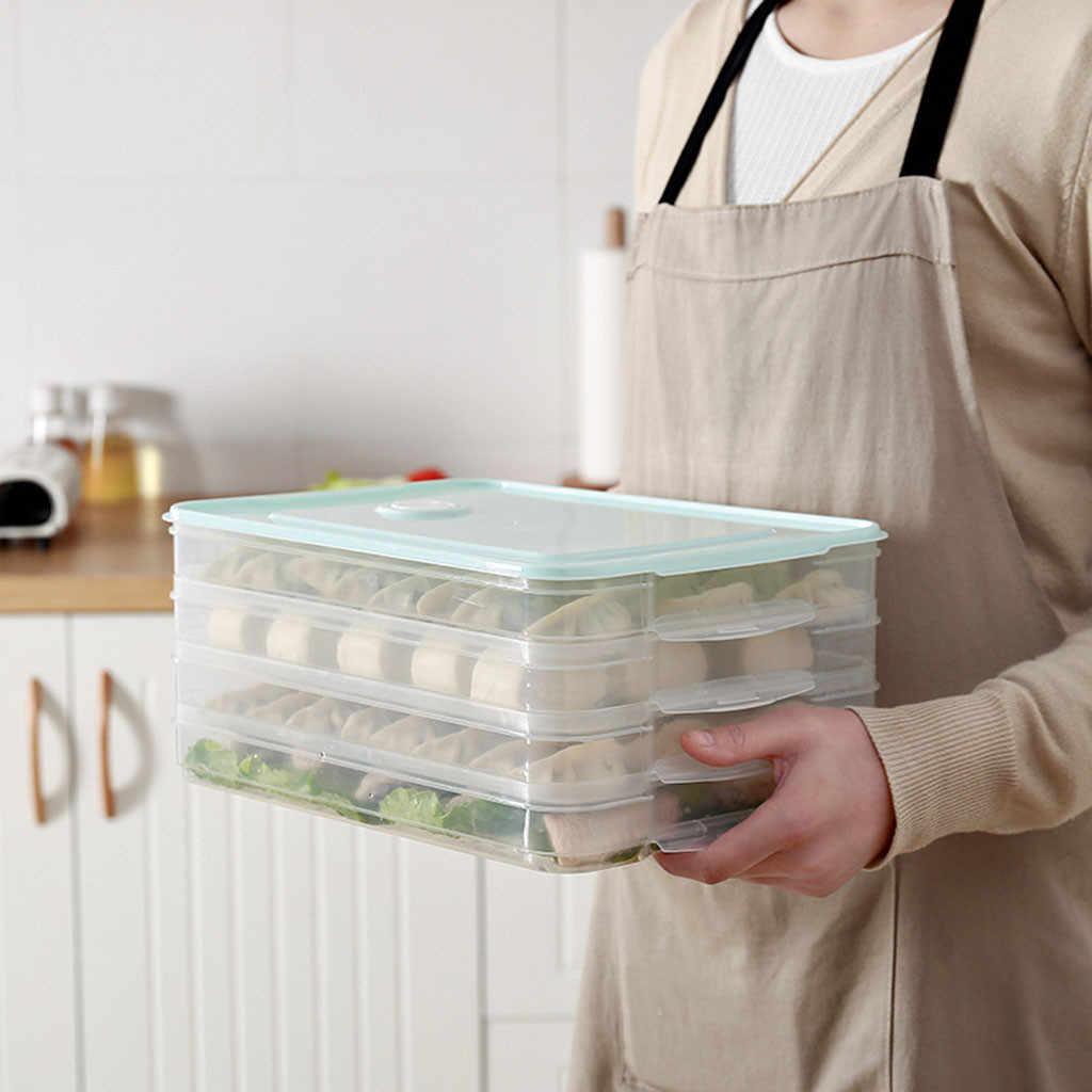 שכבה אחת כופתה קופסות אחסון מגש מזון מיכל תיבת עבור לשמור טרי מקרר קפוא כופתאות אחסון פלסטיק קופסות