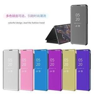 Image 1 - Étui à rabat intelligent pour Xiao mi 9 SE 6 étui de luxe pour mi mi x 3 2 Max 3 étui pour mi Note 3 A1 A2 5X 6X couvercle transparent