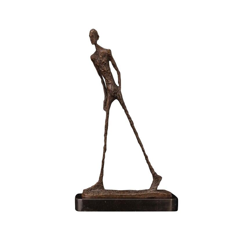 Giacometti bronze escultura abstrata casa decoração acessórios estátua escultura decorativa abstrato arte moderna