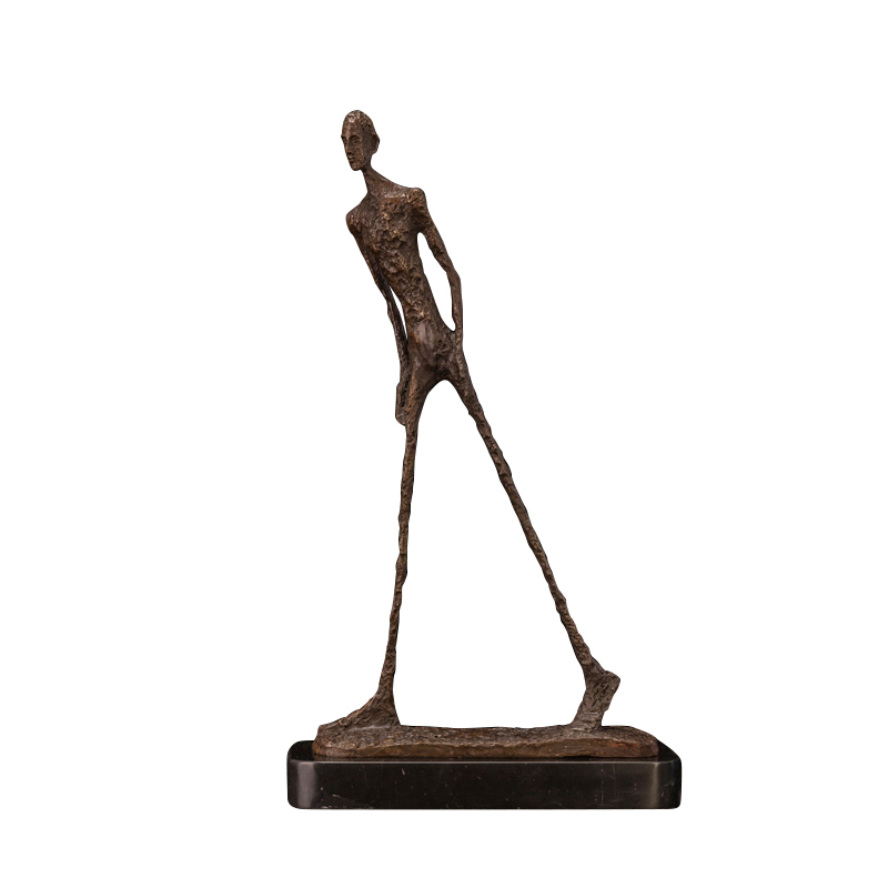 Giacometti bronze sculpture abstraite marche homme statue sculpture décorative