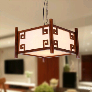 New Chinese style elegant  square wood art  Pendant Lights Tradition shadow flower parchment lamp for stairs&vestibule MF009 tradition chinese style carved wood art pendant lights retro countryside house lamp for bar