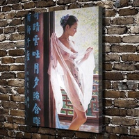 1382 Sexy Girl Nnder Figures Scenery. HD Canvas Print Home decoration Living Room bedroom Wall pictures Art painting