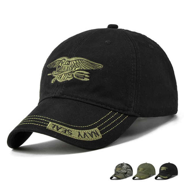354988c90704 2017 nueva moda de verano de los hombres de la Marina del sello gorra de  béisbol camuflaje de algodón de lona hombres sombrero de sol al aire libre  ...