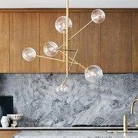Европейский современный креативный лаконичный стиль стеклянный подвесной светильник стеклянные пузыри исследование гостиная ресторан ка