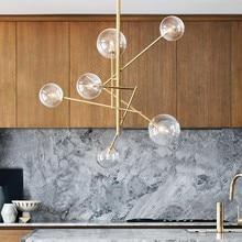 Европа современный творческий лаконичный стиль стекло подвесное светлое стекло пузыри исследование гостиная, ресторан кафе украшение лампы