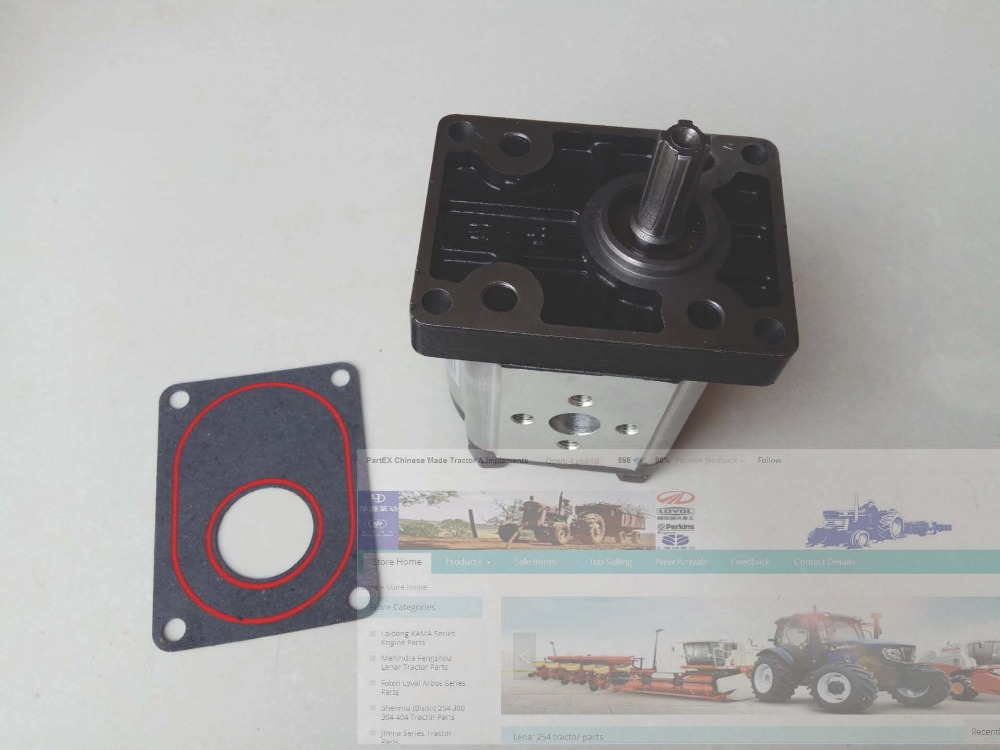 YTO 904 tractor parts, the long shaft gear pump, part number: CBN-G320 gear pump cbn e316l left rotation with flange no end oil outlet splined long shaft of dongfeng tractor