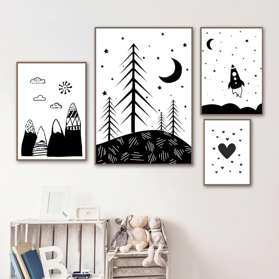 картинки черно белые для распечатки для комнаты