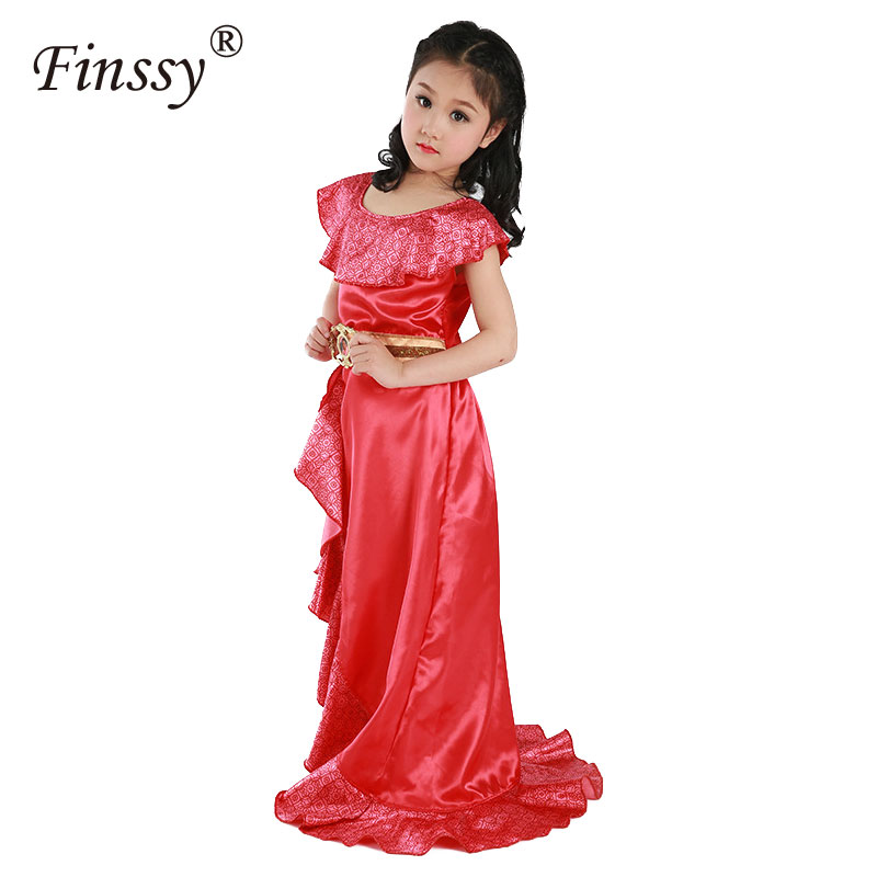 Latina Princess Elena Cosplay Costume for Girls Elena Of Avalor Adventure Next Child Halloween Costumes for Kids Party Dress