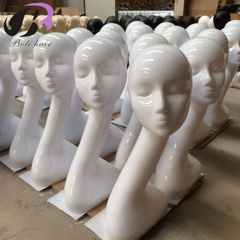 Boli Free Shipping Fashion White Female Mannequins Head Model Head Hair Displayer Training Head For Wig Hat Scarf Mannequin Head