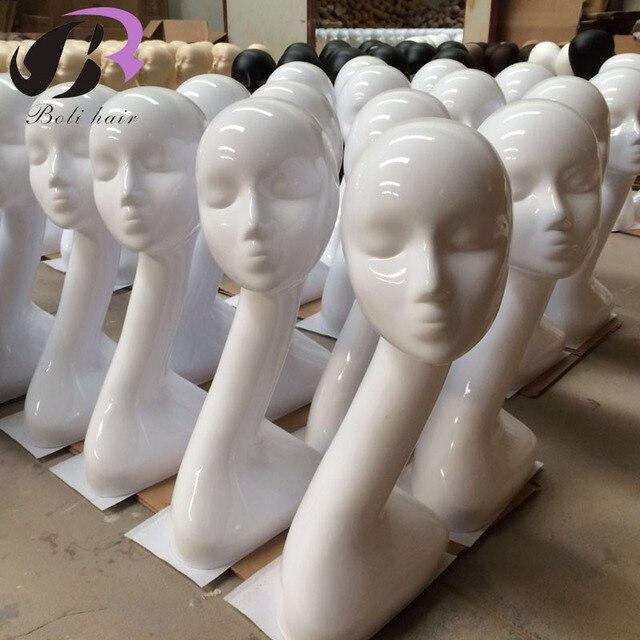 Boli Ücretsiz Kargo Moda Beyaz Kadın Mankenler Kafa Modeli Kafa Saç Ekran Eğitim Kafa Peruk Şapka Eşarp Manken Kafası