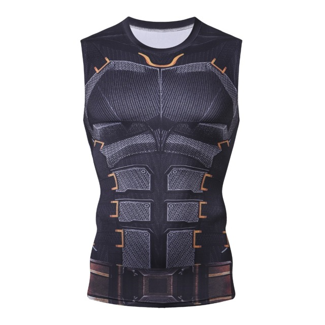 Bodybuilding 3D Batman Spiderman Thor Hulk Winter Soldier Thanos Anime G ym Tank Top Men Tshirt Fitness Clothing Singlet Tanktop