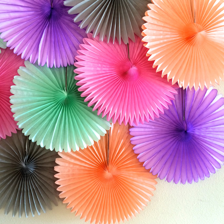 Wedding Decoration Crafts 15cm 15pcslot Flower Origami Paper Fan