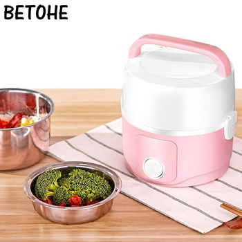 Electric Lunch Boxes Heated Food Containers Two Three Layer Portable Round 220v Food Warmer Healthy School Lunch Containers