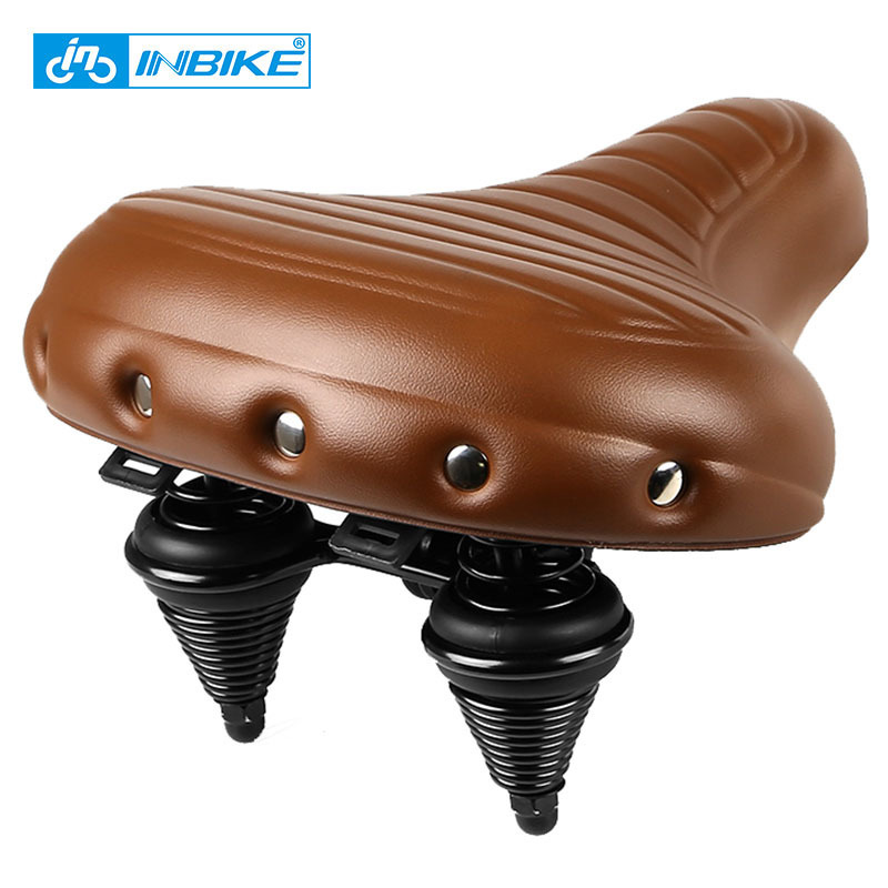 INBIKE Soft Wide Bicycle Saddle Comfortable Road Bike Seat Leather Pad Cycling Parts Accessories Selle Velo Fahrrad Sitz new arrival carbon saddle bicycle bike saddle seat road bike saddle sillin bicicleta sillin carbono sella carbonio