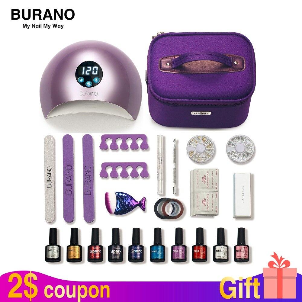 BURANO nail set gel polish 30 jours durable nail kit gel tout pour manucure nail set nail art outils