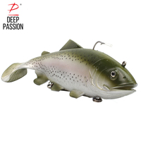 DEEP PASSION Sea Fishing Lure 30cm 170g 3D Eyes Lure Soft Fishing Simulation Baits Artificial Bait