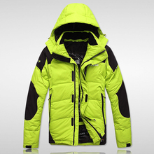 Color-blocking Hooded Men Winter Coat 2017 New Thick Duck Down Jackets Waterproof Men's Clothing Casual Jacket Parkas Male qx438