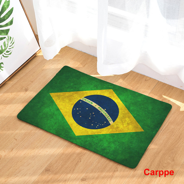 CAMMITEVER United States England Brazil Flag Non slip Mat Foyer Foot Carpet Rug Household Kitchen Door Pad Fashion Rugs