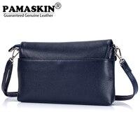PAMASKIN 2018 New Arrivals Female Messenger Bags Flap Premium Real Leather Ladies Wristlets Fashion Women Shoulder