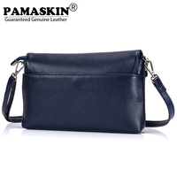 PAMASKIN 2018 New Arrivals Female Messenger Bags Flap Premium Real Leather Ladies Wristlets Fashion Women Shoulder