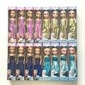 Caliente venta MINI Anna Elsa muñecas Snow Queen princesa Elsa y Anna juguetes de peluche bebé carttoon muñecas mejor regalo para las niñas cumpleaños