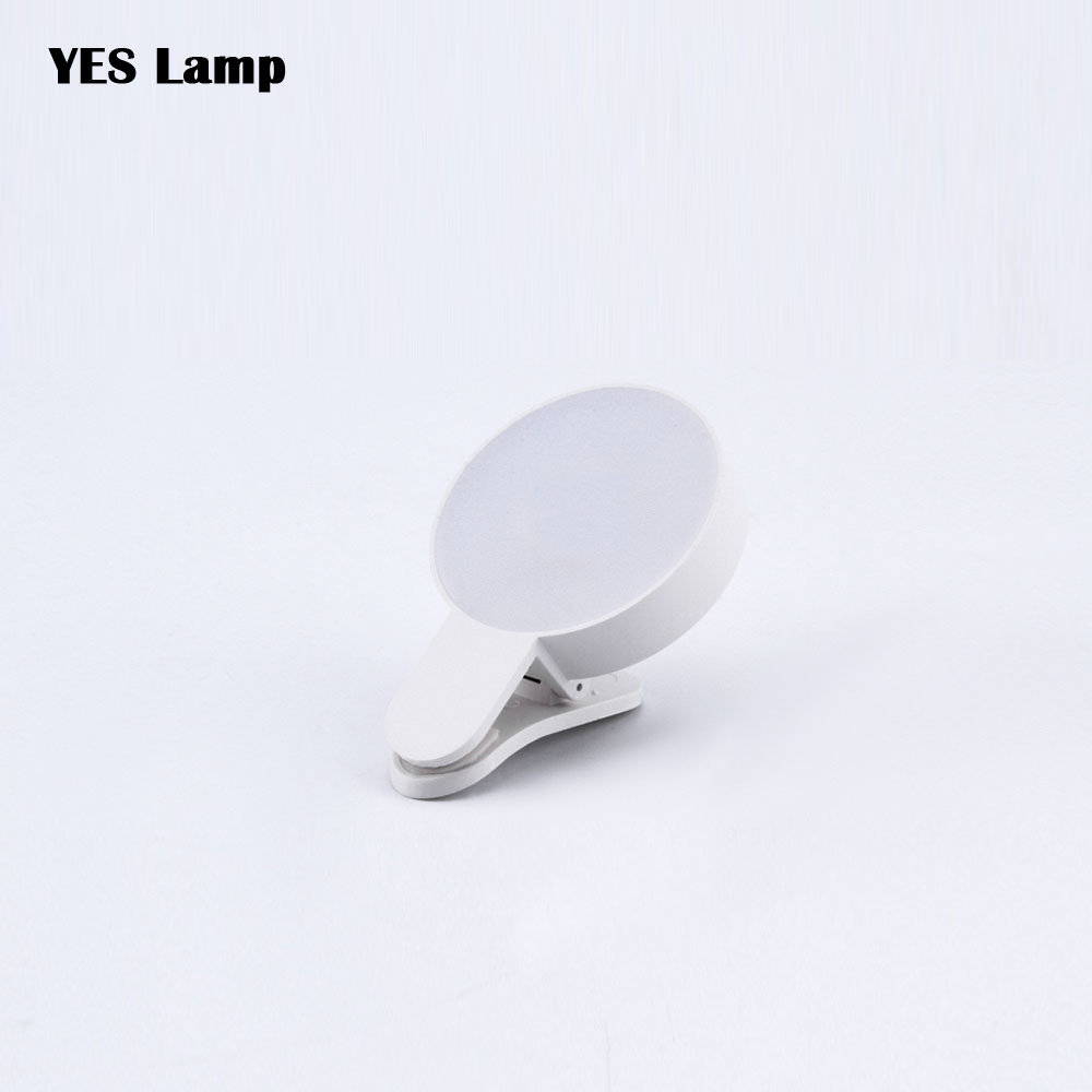 Beauty Fill Lamp Cell Phone Selfie Ring LED Light  Portable Circle Photography Clip Light For Mobile Phone Camera Rechargeable