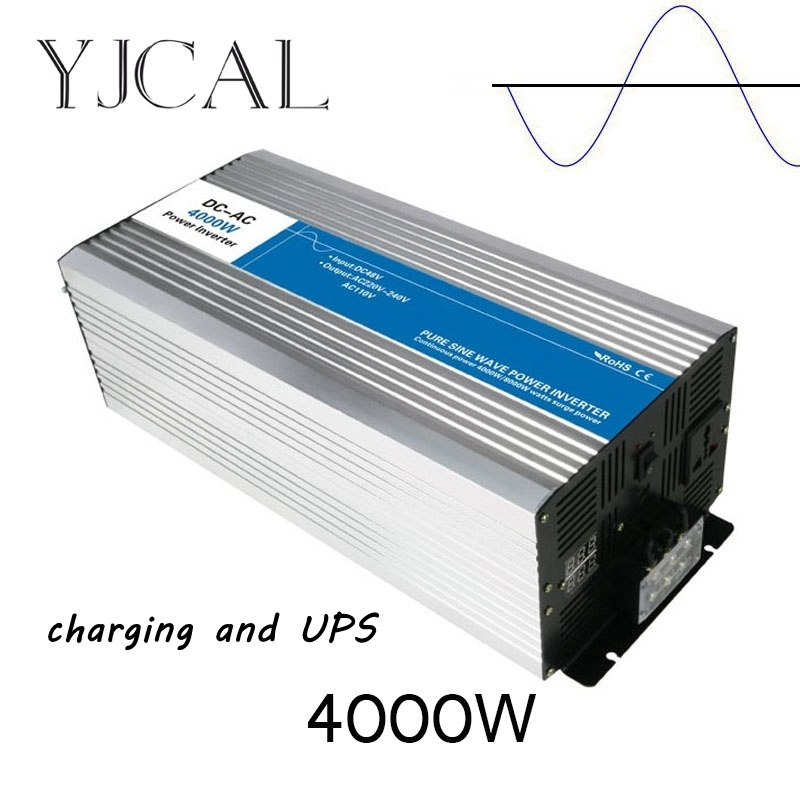 Pure Sine Wave Inverter 4000W Watt DC 12V To AC 220V Home Power Converter Frequency Electric Power Supply With Charger And UPS