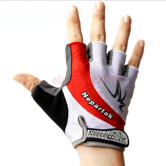 Red 2014 New Cycling Bike Bicycle Shockproof Wearable Sports Half Finger font b Glove b font