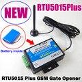 Frete grátis RTU5015 Mais GSM Portão Opener Operador Porta com SMS Controle Remoto Bateria para suporte APLICATIVO de alarme de falha de energia
