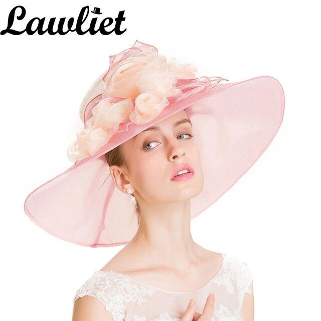 Summer Large Brim Sun Hats Women UV Protection Organza Hat Beach Cap for  Women Fashion Floppy e861a103010