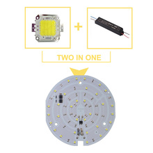 30pcs/lot LED SMD CHIP For Ceilinglight AC220V Input with Smart IC 15W 18W light beads for DIY Downlight  Cold White