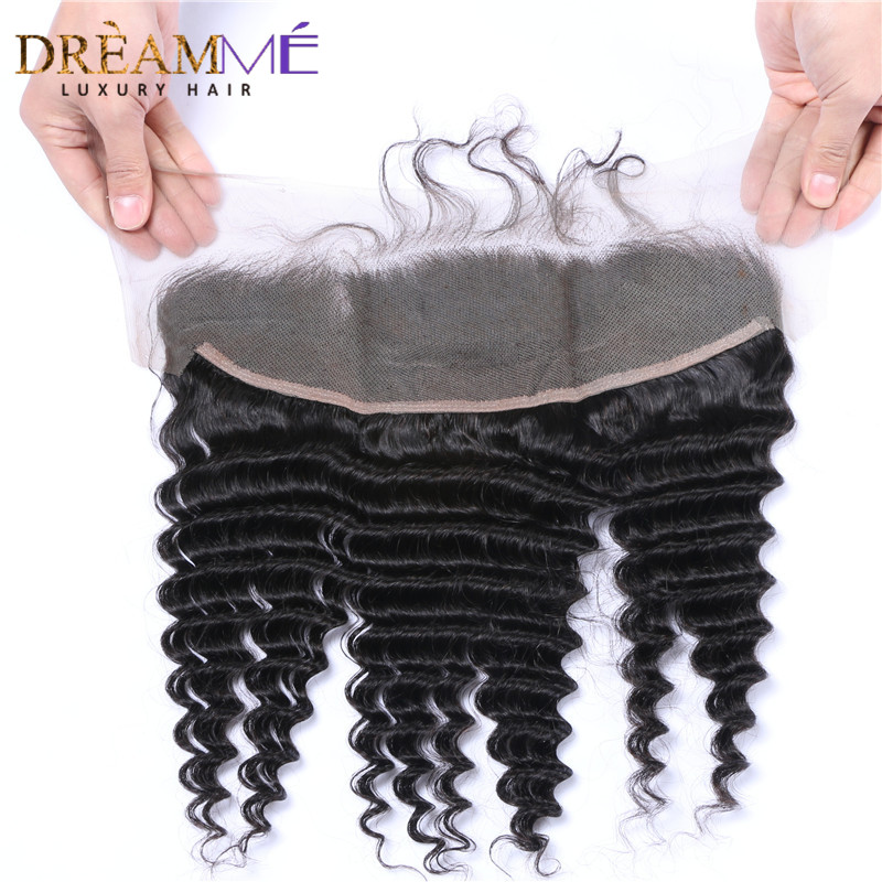 kinky curly human hair extension with 13x4 lace frontal closure (6)