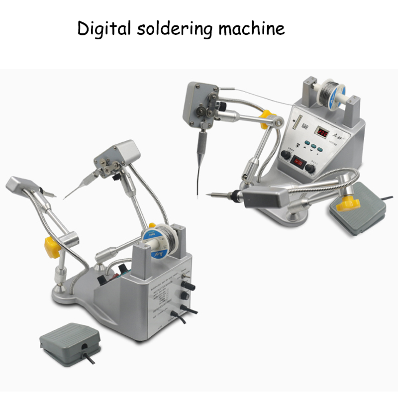 Precision digital soldering machine pedal automatically out of tinall-round adjustment tin soldering machine HS376D automatic tin feeding machine constant temperature soldering iron teclast multi function foot soldering machine f3100a