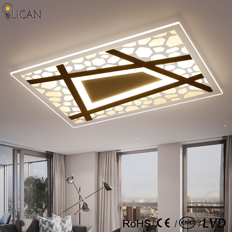LICAN Acrylic Modern LED Ceiling Lights for Bedroom children room Living room LED Ceiling Lamp slim acrylic lights for bedrooms 9w led ceiling lights acrylic with 2 lights chrome finish yellow