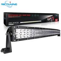 MICTUNING 50 288 Вт изогнутый светодиодный свет бар автомобиля светодиодный бар рабочий свет 12 в 24 в комбинированный луч для вездеходный трактор г