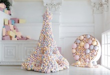 Laeacco Colorful Balls Baby Birthday Party Scene Interior Photography Background Custom Photographic Backdrops For Photo Studio