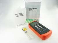 Digital K Type Thermocouple Thermometer With Sensor LCD Display Handheld Temperature Meter Double Channel Termometro