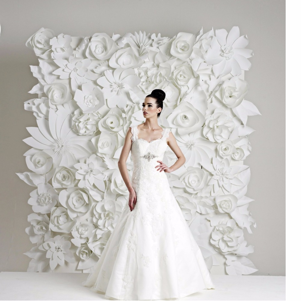99pcs Set 15 60cm Giant Paper Flowers For Wedding Backdrops Wall