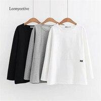Leonyeetive Autum Summer Women Thin Shirt Cotton Blouses Plaid Style Clothing Long Sleeve Ladies Shirts Big