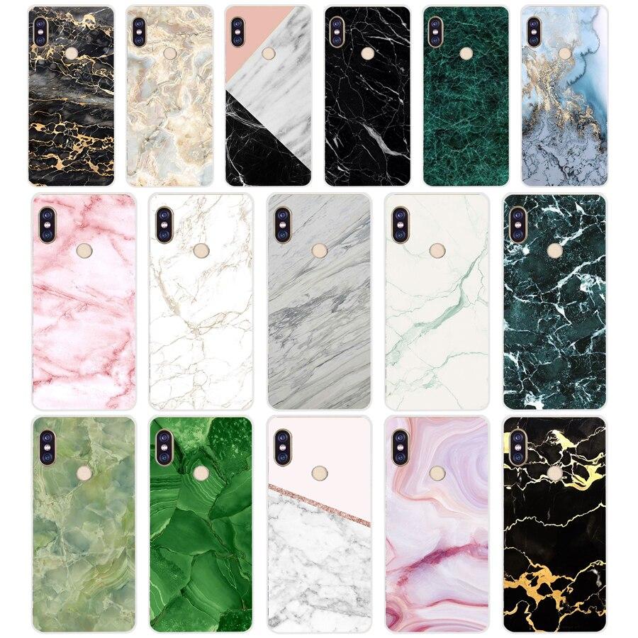 273H Marble Green Stone Soft Silicone Tpu Cover Phone Case For Xiaomi Redmi 6 Pro 5 Plus Note 6 Pro 4 4X Mi 8 A2 Lite