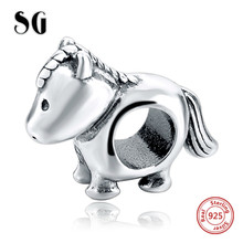 New arrival Real 925 Sterling Silver Cute Animal House charms beads Fits pandora Bracelets Charms DIY Jewelry Making for Women