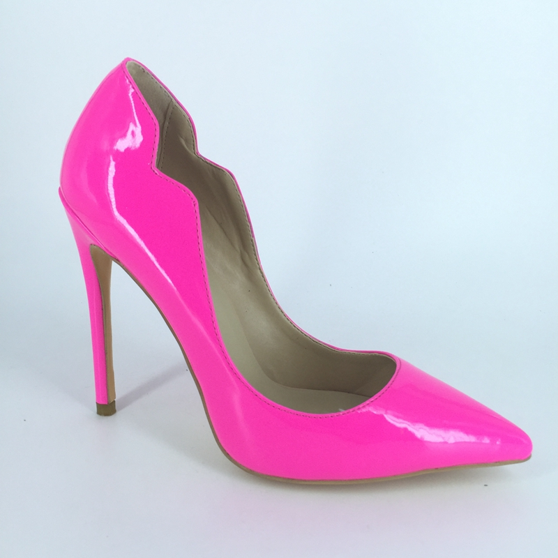 ФОТО Hot Pink Shoes Women Pumps High Heel Spring Style Ladies Party Pumps Stilettos Sexy Pumps Sapatos Femininos Womens Size 13