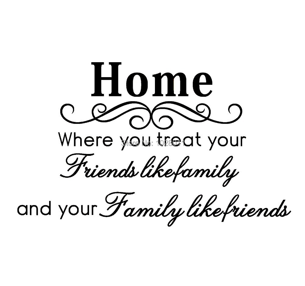 Love Quotes For Friends New Fashion Love Home English Words Family And Friends Removable