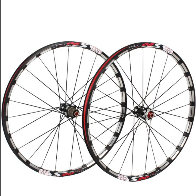 MTB mountain bike bicycle Milling trilateral RT26/27.5/29 front 2 rear 5 bearing japan hub super smooth wheel wheelset Rim Rims