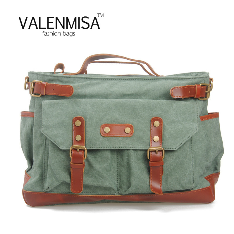 Men's Canvas Crossbody Bag Military Shoulder Bag Vintage Messenger Bag Fashion School Bag Tote Large Capacity Handbag For Travel