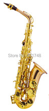 Eb Saxophon Alto Gold messing altsaxophon Mit ABS fall lieferzeit 813 tage Holz Wind musikinstrumente