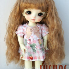 JD402 1/12, 1/8, 1/6 милый курчавый BJD синтетический мохер кукольные парики размером 4-5 дюймов 5-6 дюймов 6-7 дюймов модные кукольные аксессуары
